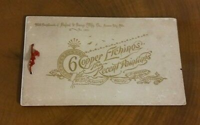 Antique 1895 Advertisement Buford & George Mfg Co Kansas City, 6 Copper Etchings