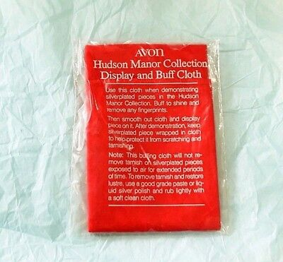 AVON Hudson Manor Collection Display and Buff Cloth Vintage