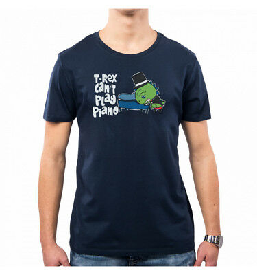 T-Shirt Uomo T-Rex Can't Play Piano Sweet Ironic Lc0012A Pacdesign