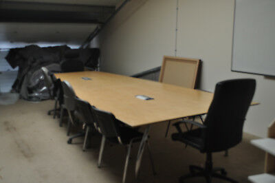 Office desks, filing cabinets and board room table