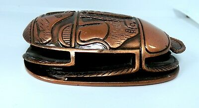 One Of A kind engraved copper Scarab Ancient Egyptian Beetle