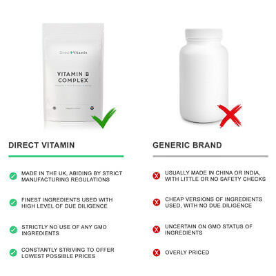 Vitamin B Complex Contains all 8 B Vitamins in one FREE 1st Class Delivery