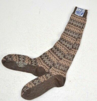 Vintage 1970s Womens Knee-Hi Soft ORLON Knees Socks Khaki NORDIC Design, 9-11