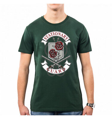 T-Shirt Uomo Stationary Guard Attack On Titan Op0049A Pacdesign
