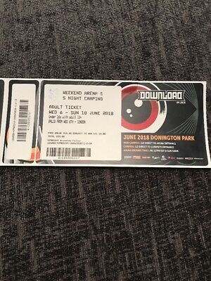 DOWNLOAD FESTIVAL 2018 Weekend Arena & 5 Night Camping X 2
