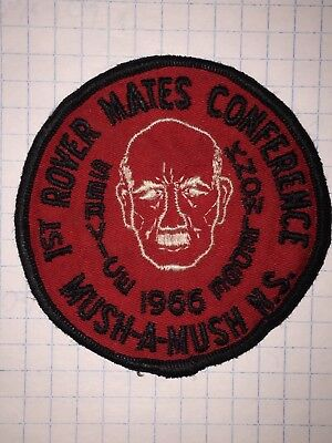 Scouts Canada 1st Rovers Mates Conference Crest Mush-a-Mush N.S. 1966