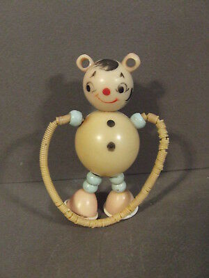 Vintage Plastic Crib Toy Old Tykie Type Toy Baby Rattle