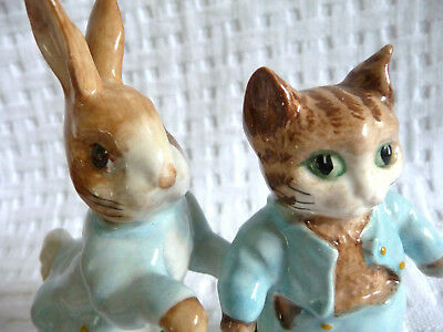 1948 Vtg Beswick BEATRIX POTTER'S  Figurines * PETER RABBIT & TOM KITTEN * SET