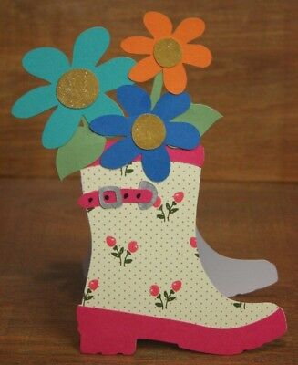 Handmade any occasion card  Gumboot shaped  *FREE POST*