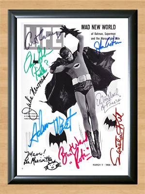Batman Vintage Signed Autographed A4 Photo Print Poster TV Series Memorabilia