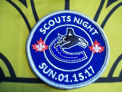 Vancouver Canucks Scouts Night Canadian Scout badge