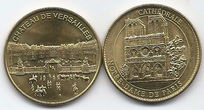 FRANCE: Coins of NOTRE DAME and VERSAILEES  2 scans.