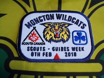 Moncton Wildcats Scouts-Guides Week 2018 Canadian Scout badge