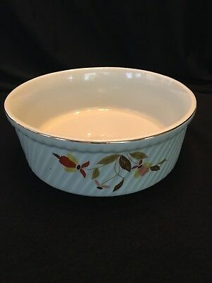 Vintage Hall's Superior Autumn Leaf Jewel Tea Round Casserole Baking Dish
