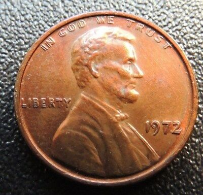 Rare    1972       Double  Die        Lincoln  Cent        Nice  Au        Rare