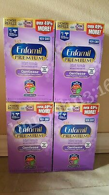 New 4 Refill Boxes (32.2) Enfamil Gentlease formula Exp 2019 FAST FREE SHIP