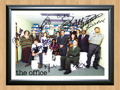 The Office TV Series Cast Signed Autographed A4 Photo Poster Memorabilia dvd cd