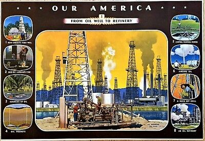 1942 #1 Coca Cola Our America Series FROM OIL WELL TO REFINERY 1913 Copyright NR