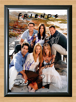 Friends Cast Signed Autographed A4 Photo Poster Print TV Series Memorabilia dvd