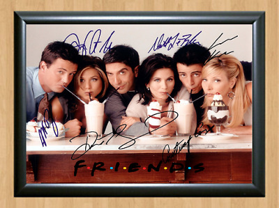 Friends Cast Signed Autographed A4 Photo Poster Print TV Series Memorabilia 2