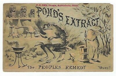 Pond's Extract 1884 medicine trade card E variation (1 of 3)