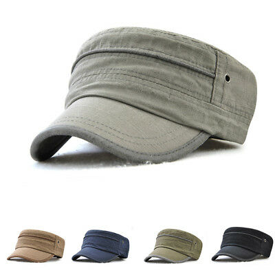 Men Women Military Style Army Cap Cadet Castro Patrol Golf Summer Baseball  Hat a6f1dde0a7