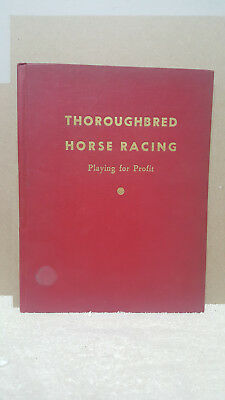 """""""Rare"""" 1942 Thoroughbred Horse Racing Book """"Playing for Profit"""" by Ray Taulbot"""