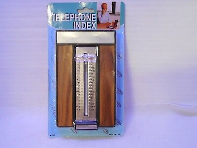"VINTAGE Pop-Up ""Teledex"" Telephone Index, c1970s, brand new in blister pack"