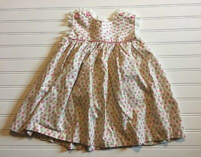 Vintage Girl's Toddler Spring Summer Floral Lace Dress Cute Buttons Size 4t?