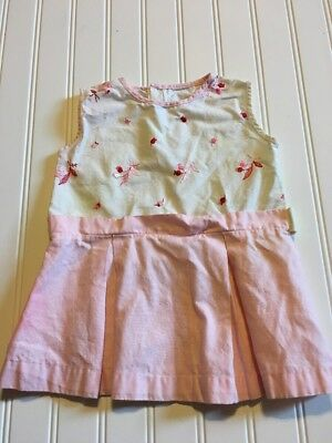 Baby Infant Summer Spring Dress Pink Embroidered 18 Months?