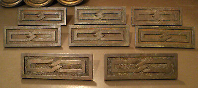 Lot of 8 Antique Vintage Brass Bronze Rectangular Antique Drawer Pulls