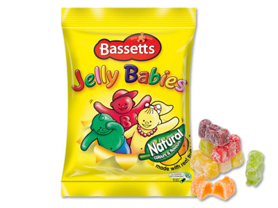 Bassetts Dusted Jelly Babies 190g Bag Box of 12
