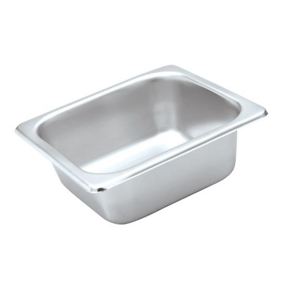 3x Bain Marie Tray / Steam Pan / Gastronorm 1/6 Size 65mm Deep Stainless Steel
