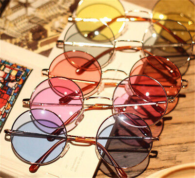 Women Vintage Retro Round Plastic Glasses Lens Sunglasses Eyewear Frame Glasses