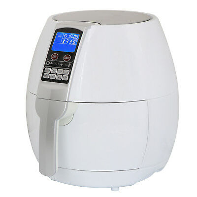 Electric Air Fryer 3.7Qt 1500w with LCD Touch Display Deep Rapid Fryer, White