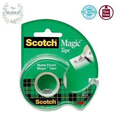 """Scotch MatteTape with Dispenser Size 1/2"""" x 450"""" Craft Mailing Packing Office"""