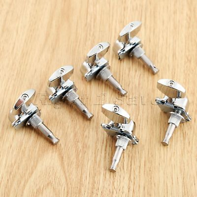 6pcs Alloy Acoustic Guitar String Semiclosed Tuning Pegs Machine Heads Tuners