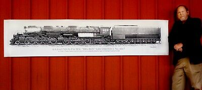 This Is The Biggest Big Boy Locomotive Print Ever Made... At A Giant 2X9 Ft!