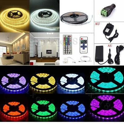AU 5M/10M/20M/30M 300 led 5050 SMD 12V LED Strip Lights+Power Supply+Remote Kits