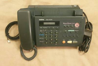 Brother Phone Fax 520Dt + Power Supply , Direct Thermal Printing