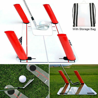 Base & 4 Rods Golf Swing Training Aid For Better Ball Catch Practice