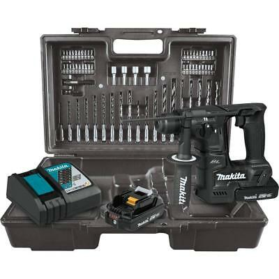 Makita XRH06RBX 18V LXT 11/16 in Rotary Hammer Kit, SDS-PLUS bits, 65 Pc Bit Set