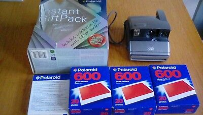 Polaroid one 600 instant camera with 70 prints worth of film