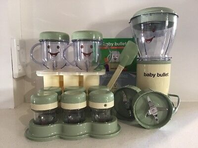 Magic Bullet Baby Bullet Complete Baby Food Maker Great Condition - Full Set