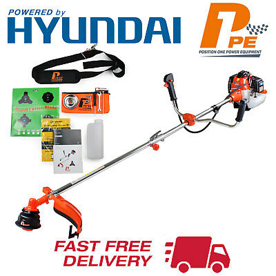 P1PE 52cc Petrol Grass Trimmer Brush Cutter Hyundai Powered 2 Stroke 2018 Model