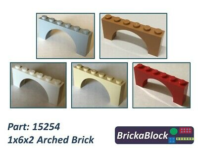 NEW Lego Two 1x12x3 Stud Brown Arched // Bow Bricks ID 18838