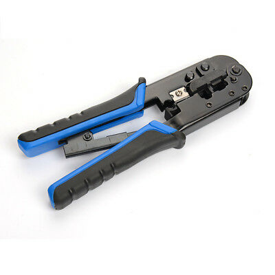 2018 Pro Ratchet Crimping Tool Cable Stripper for 8P/6P Network Crystal Head Z