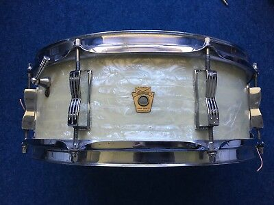 Ludwig 1968 Jazz Festival snare Drum White Marine Pearl