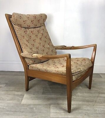 Mid Century Cintique Easy Chair, Retro Armchair ReUpholstery Project