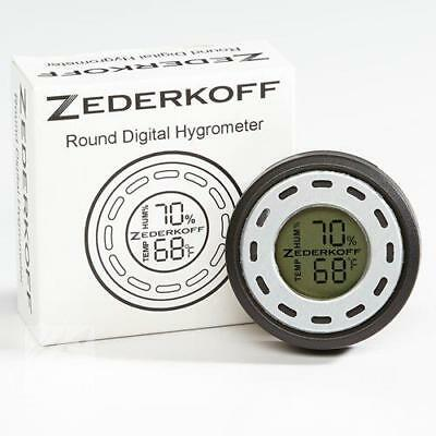 ZEDERKOFF Digital Round Hygrometer / Thermometer Humidor- SILVER - SHIPS FREE